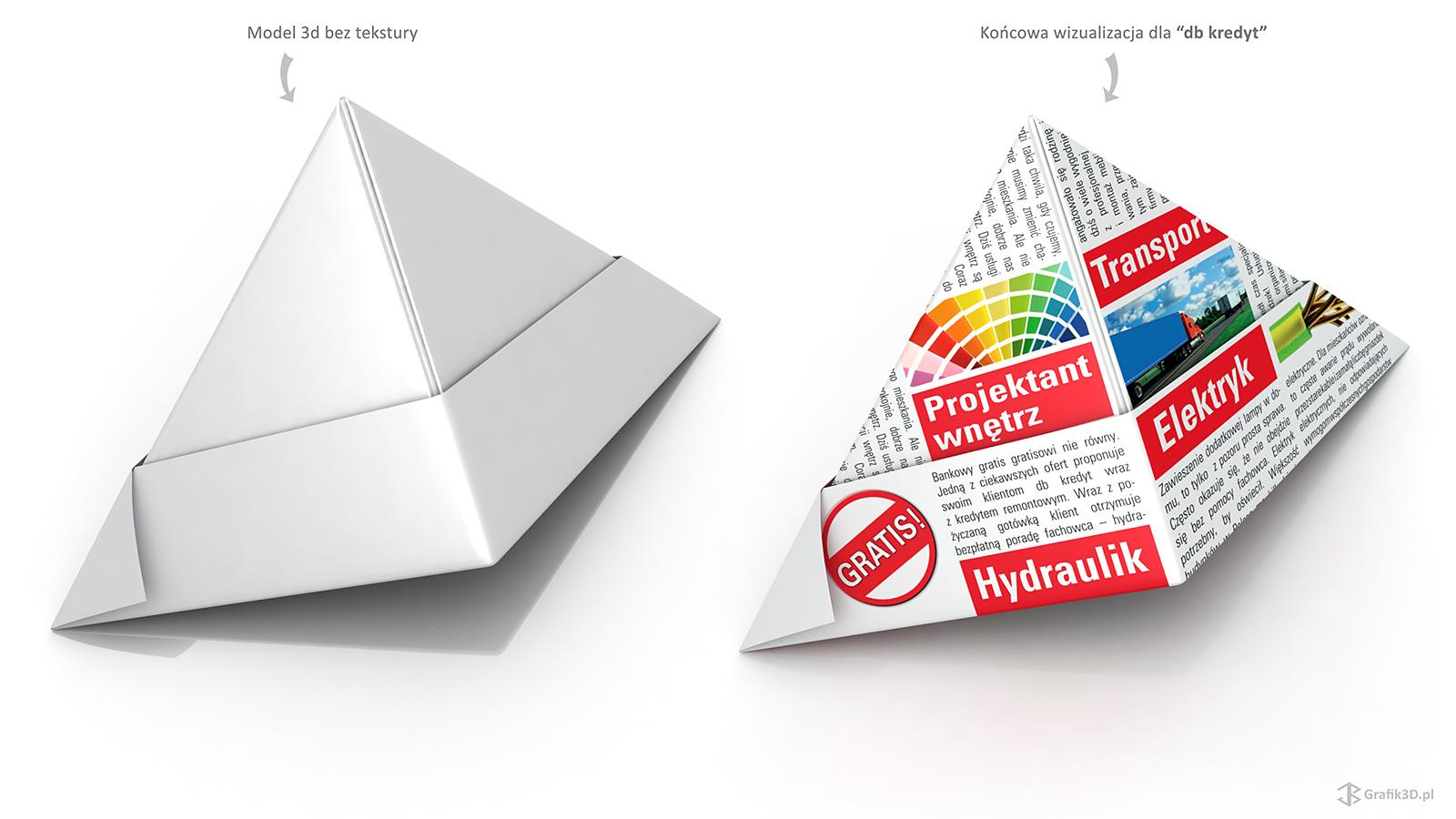 Element wizualny 3d do kampanii reklamowej banku