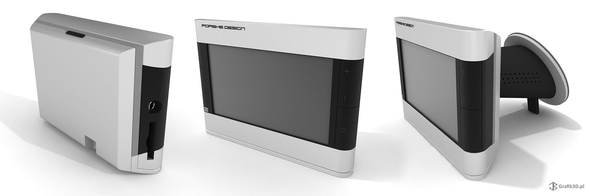 Model 3d Nawigacji Porshe Design