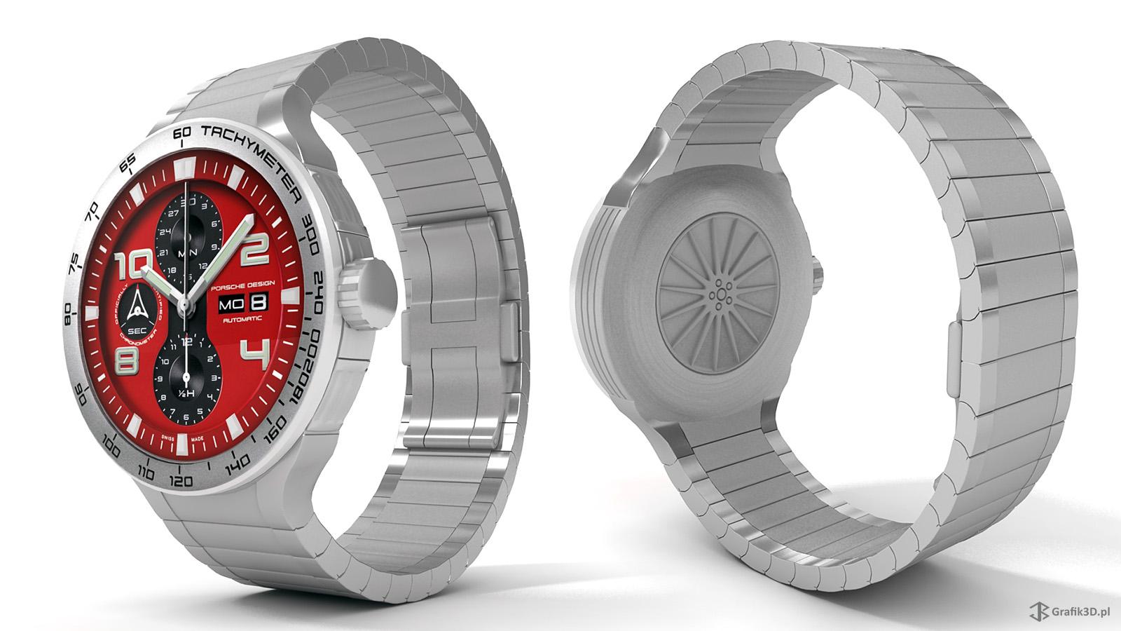 Model 3d zegarka Porshe Design