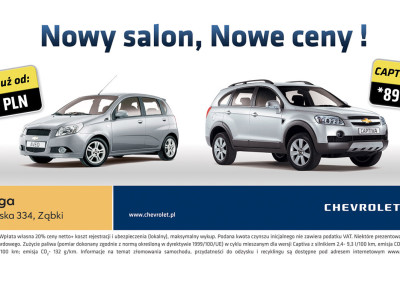 Projekt graficzny billboard salon samochodowy