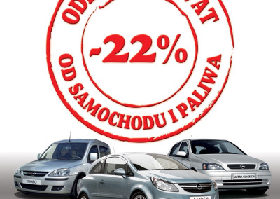 Projekt plakatu Opel