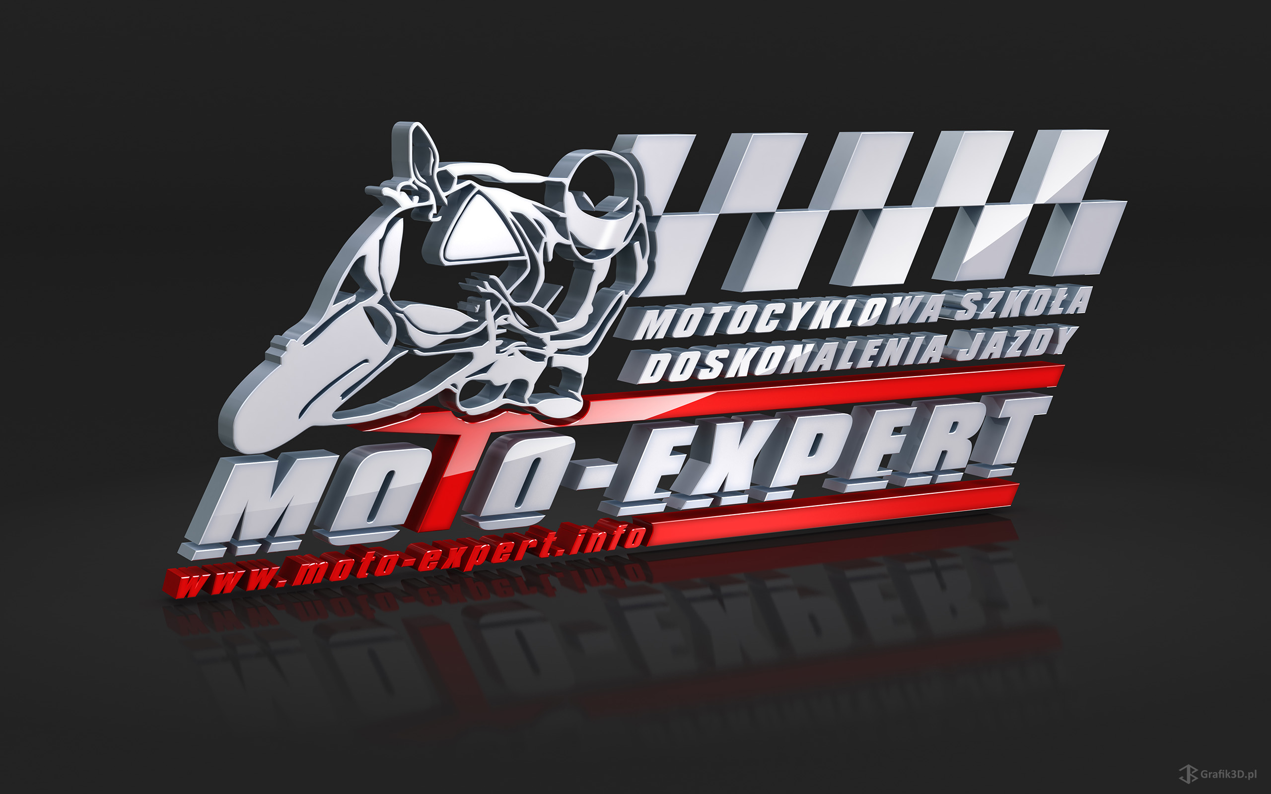 Trójwymiarowe Logo 3d Moto-Expert