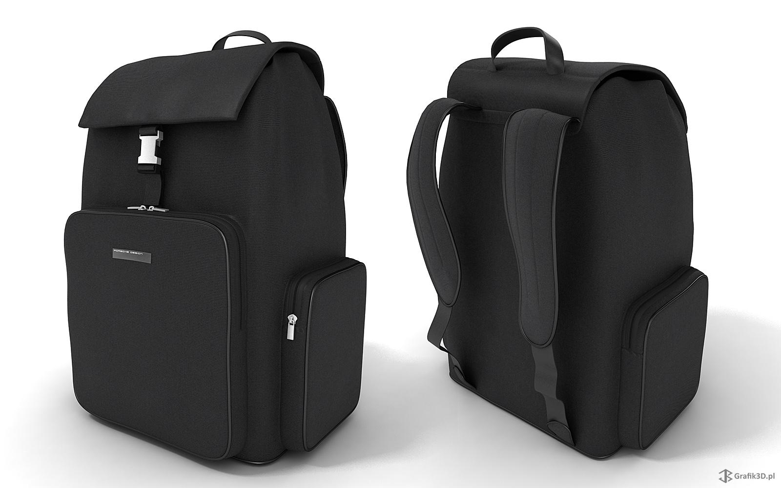 Trójwymiarowy model plecaka Porshe Design