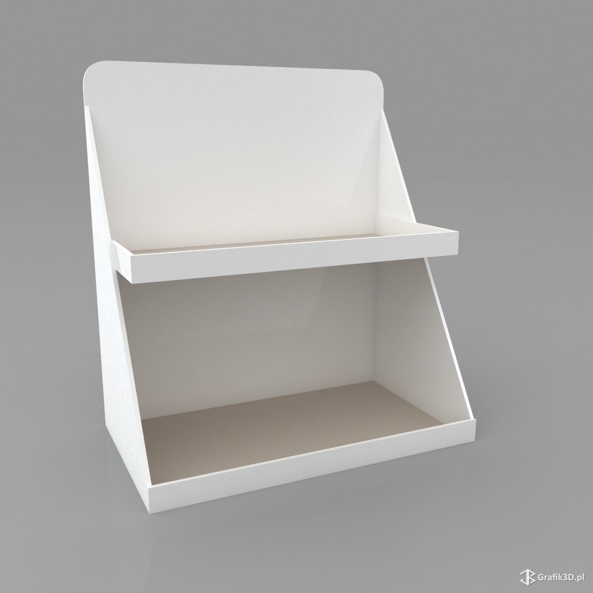 Wizualizacja standu półki na produkty