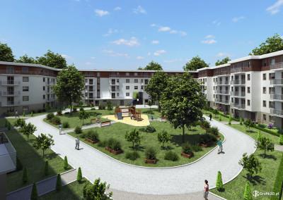 Wizualizacja architektoniczna osiedla w Warszawie