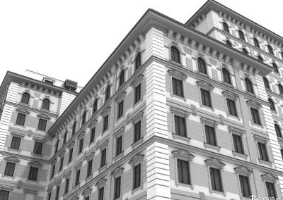 Wizualizacja kamienica architektura miejska
