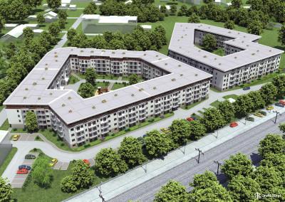 Wizualizacja osiedla Platinum w Grodzisku Mazowieckim