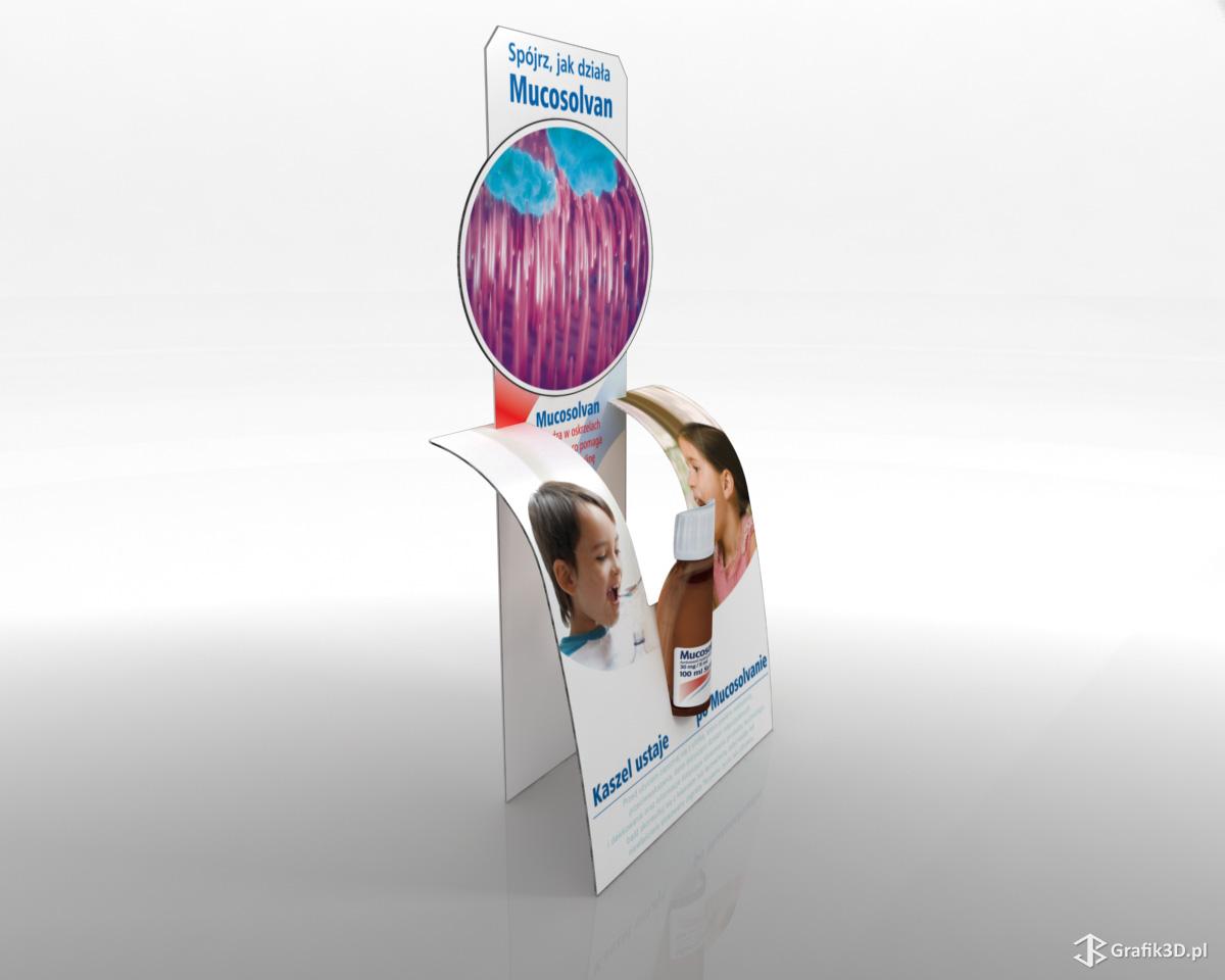 Wizualizacja standu reklamowego Mucosolvan