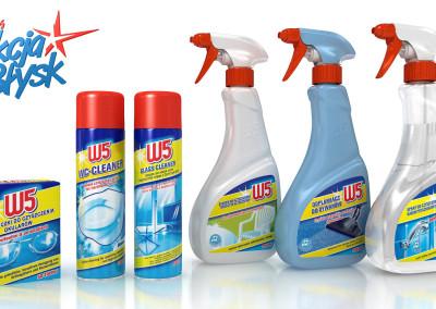 packshot produktów W5 do reklamy