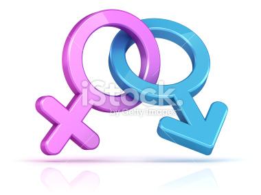 Płeć Symbole połączone - Stock Image