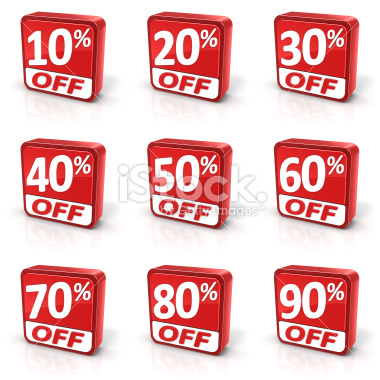 Discount SALE symbols set - Stock Image