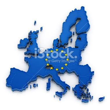 Unia Europejska mapa symbol - Stock Image