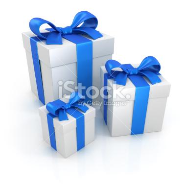 Prezenty Gift boxes stock image - Stock Image