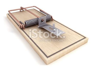 Mousetrap Łapka na myszy - Stock Image