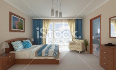 Pokój hotelowy 3d - Stock Image