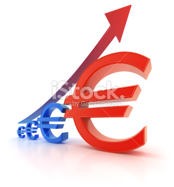 Waluta EURO wykres wzrost - growth