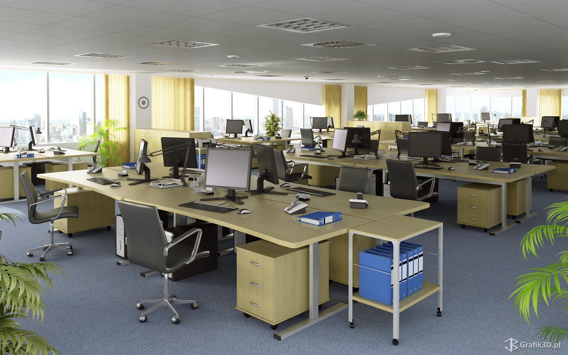 Wizualizacja 3d biura w Silesia City Center