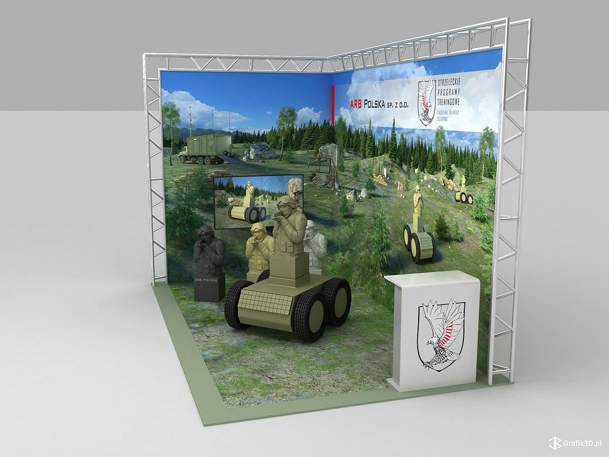 Wizualizacja stoiska targowego ARB Polska