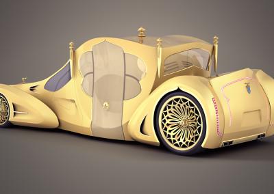 Autokaroca wersja złota tył