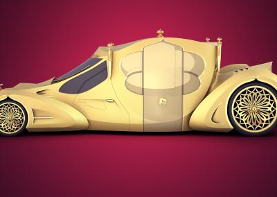 Projekt koncepcyjny stylowego pojazdu
