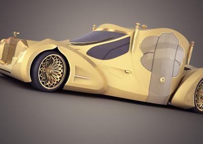 Wizualizacja samochodu koncepcyjnego