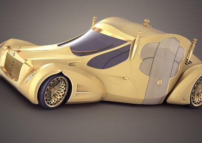 Wizualizacja 3d samochodu koncepcyjnego